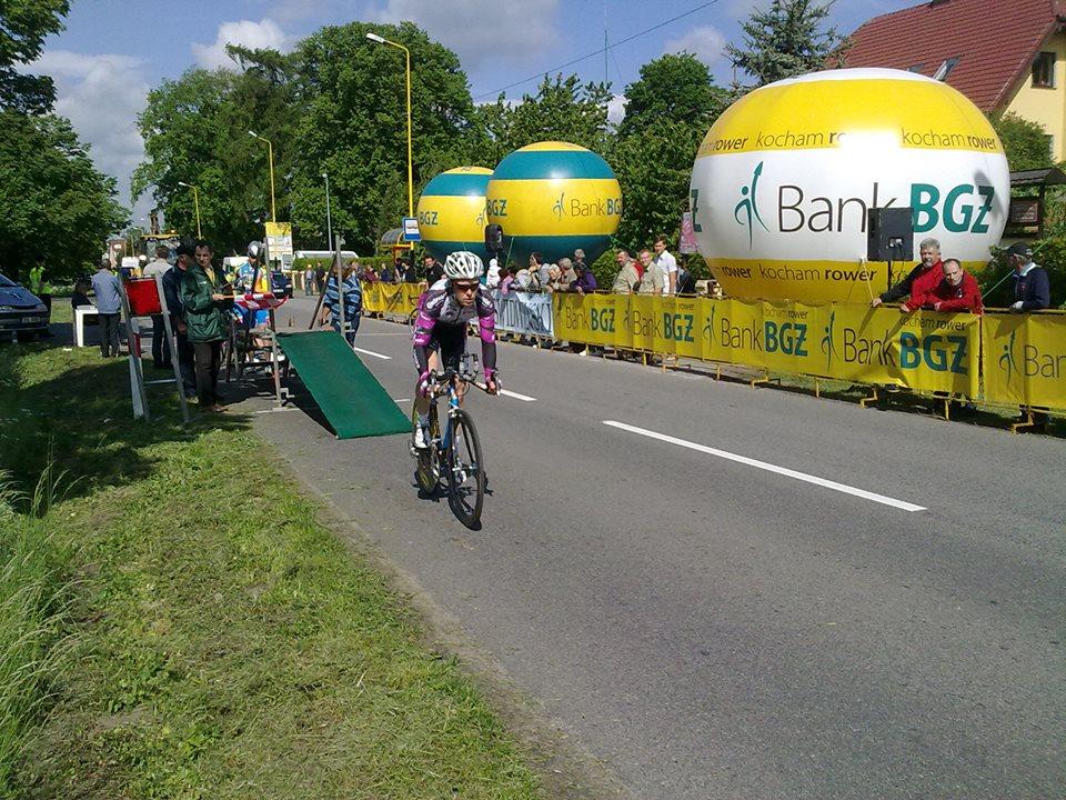 Das Bild zeigt Patrick Schubert beim Zeitfahren, bei dem er einen guten 47. Platz belegte.